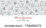 christmas and new year banner ... | Shutterstock .eps vector #758680672