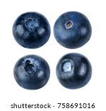 blueberry collection isolated... | Shutterstock . vector #758691016