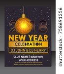 new year flyer | Shutterstock .eps vector #758691256