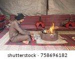 wadi rum  jordan  december 26th ... | Shutterstock . vector #758696182