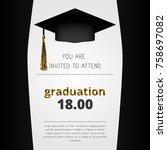 elegant graduation event... | Shutterstock .eps vector #758697082