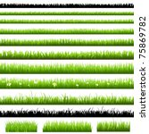 green grass set  isolated on... | Shutterstock .eps vector #75869782