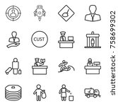 thin line icon set   target... | Shutterstock .eps vector #758699302