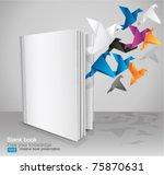 blank book  creative book... | Shutterstock .eps vector #75870631