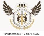 vector illustration of old... | Shutterstock .eps vector #758714632