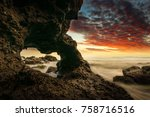 fantastic views of rocky coast... | Shutterstock . vector #758716516