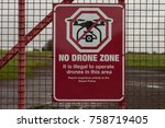 No Drone Flying Warning Sign On ...