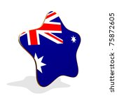 Australia flag STAR BANNER - stock photo