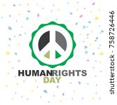 human right day logo template