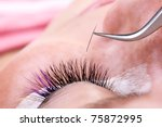 lash making process  extreme... | Shutterstock . vector #75872995