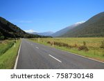 stunning valley in haast pass ... | Shutterstock . vector #758730148