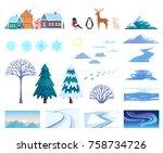 Winter Landscape Elements Set...