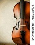 violin  fiddle  musical... | Shutterstock . vector #758738476