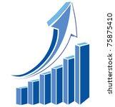 arrow diagram chart detailed... | Shutterstock .eps vector #75875410