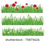 green grass collection | Shutterstock .eps vector #75875626
