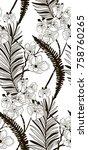 vector black decorative... | Shutterstock .eps vector #758760265
