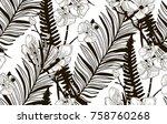 vector black decorative... | Shutterstock .eps vector #758760268