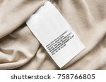 washing instructions clothes... | Shutterstock . vector #758766805