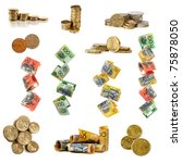 collection of australian money... | Shutterstock . vector #75878050