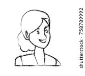 business woman cartoon icon... | Shutterstock .eps vector #758789992