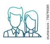 business couple teamwork | Shutterstock .eps vector #758790085