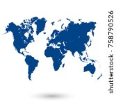 color world map vector. | Shutterstock .eps vector #758790526
