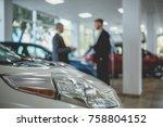 auto showroom  dealer talking... | Shutterstock . vector #758804152