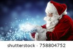 santa claus blows snow | Shutterstock . vector #758804752