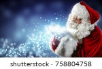 santa claus blows snow | Shutterstock . vector #758804758