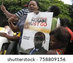 harare zimbabwe 18 november... | Shutterstock . vector #758809156
