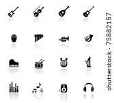 icons set musical instruments | Shutterstock .eps vector #75882157