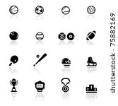 icons set sports and games | Shutterstock .eps vector #75882169