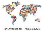 clothing in the form of a world ... | Shutterstock . vector #758833228
