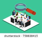 isometric 3d illustration set... | Shutterstock .eps vector #758838415