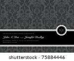 vector ribbon frame and... | Shutterstock .eps vector #75884446