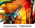 abstract watercolor texture.... | Shutterstock . vector #758846038