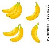 banana vector simple... | Shutterstock .eps vector #758846386