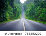 big road one line   | Shutterstock . vector #758853202
