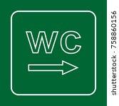 toilet sign. wc  men and women    Shutterstock .eps vector #758860156