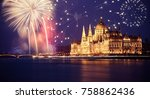 new year in the city   budapest ... | Shutterstock . vector #758862436