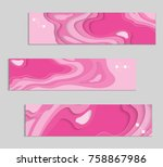 abstract banner template with... | Shutterstock .eps vector #758867986