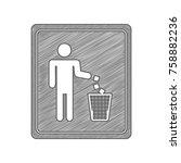 hazard warning attention sign...   Shutterstock .eps vector #758882236