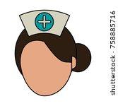 nurse faceless avatar   Shutterstock .eps vector #758885716