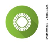 casino chip flat design long... | Shutterstock .eps vector #758888326