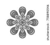 mandala sign illustration....   Shutterstock .eps vector #758890546