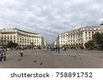 thessaloniki  greece  ... | Shutterstock . vector #758891752