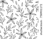 floral seamless pattern for... | Shutterstock .eps vector #758901172