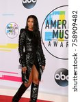 los angeles   nov 19   ciara at ... | Shutterstock . vector #758909482