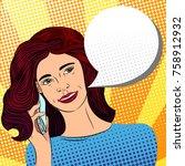pop art style modern design...   Shutterstock .eps vector #758912932