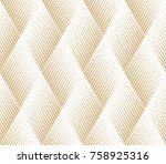 abstract geometric pattern with ... | Shutterstock .eps vector #758925316